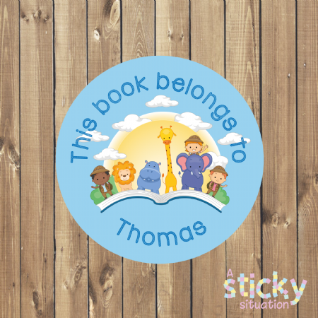Personalised Book Labels - Animals Design
